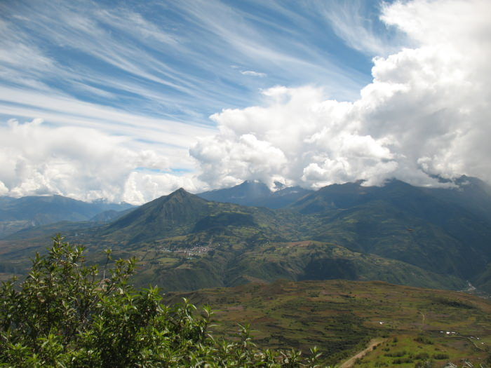 View of Mollepata from Chonta - Vegetarian Peru Adventures