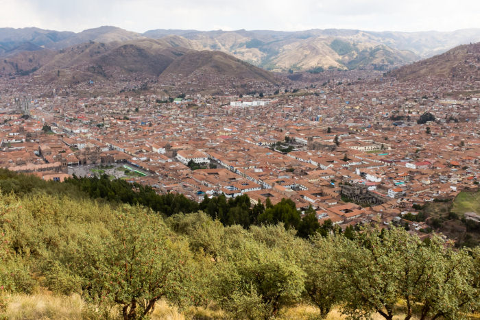 View of Cusco - Vegetarian Peru Adventures