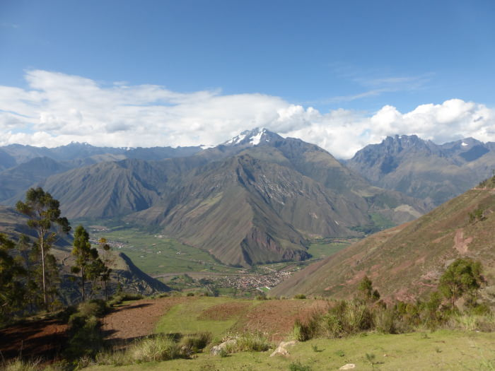 View of the Sacred Valley - Vegetarian Peru Adventures