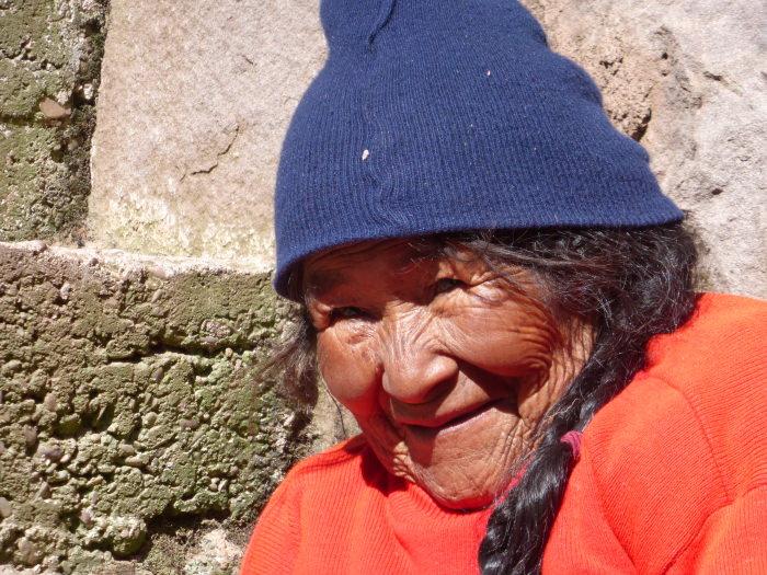 Quechua Grandmother - Vegetarian Peru Adventures
