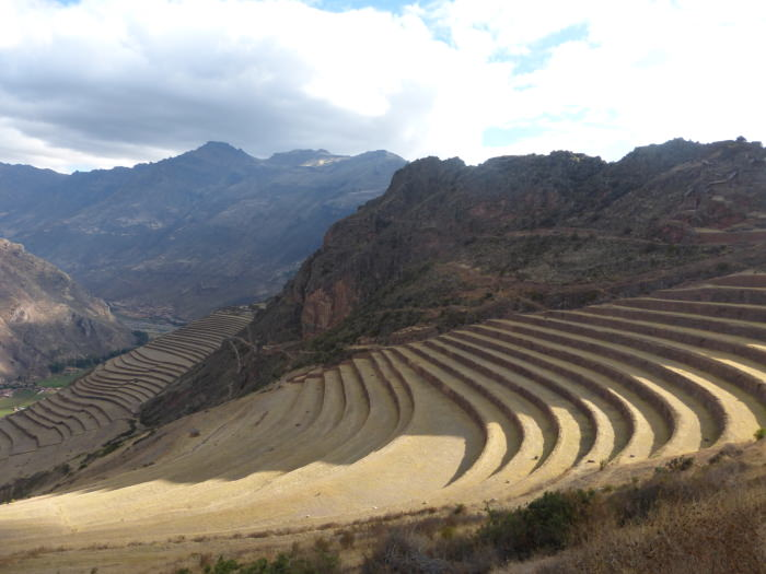 Inca Terraces at Pisac - Vegetarian Peru Adventures