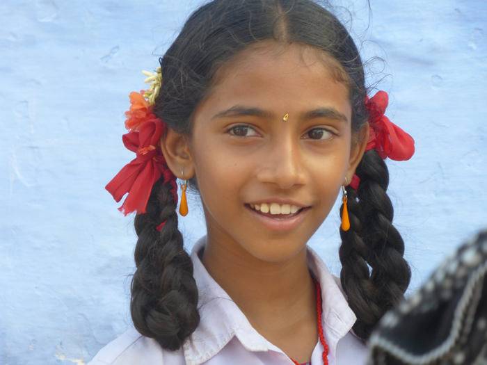 school girl in Tamil Nadu