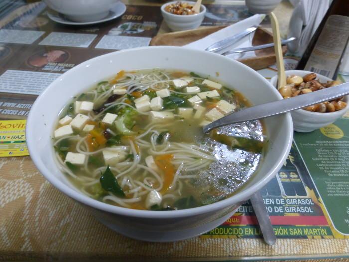 Vegan Peruvian Soup - Vegetarian Peru Adventures