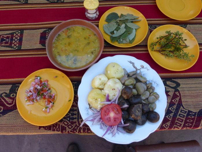 Vegan Food on Taquile - Vegetarian Peru Adventures