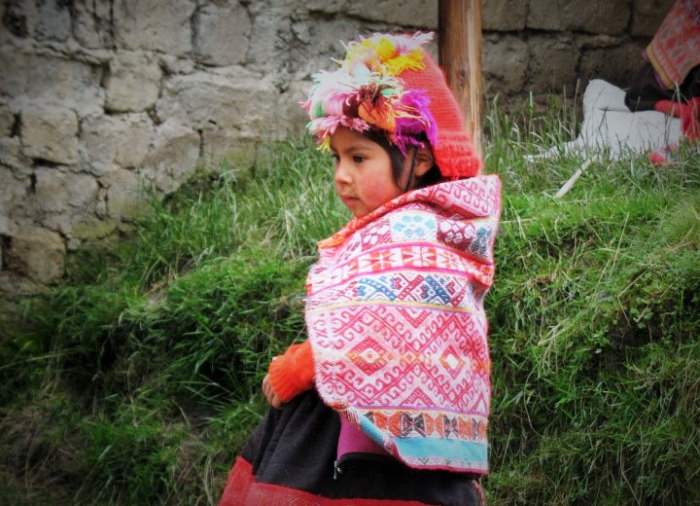 Child in Willoq - Vegetarian Peru Adventures