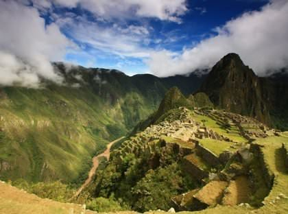 View of Machu Picchu - Vegetarian Peru Adventures