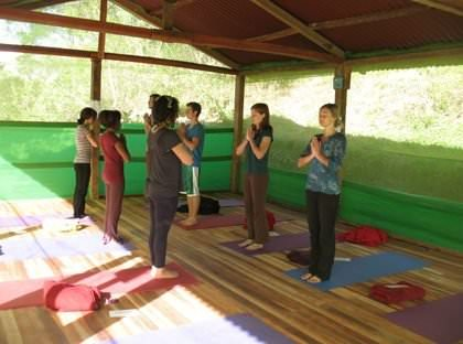 Yoga Class at Andean Spirit Lodge - Vegetarian Peru Adventures