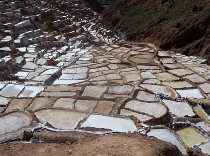 The Salt Pans of Maras - Vegetarian Peru Adventures