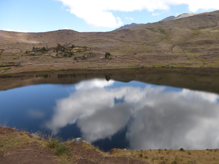 Kimsaqocha Lagoon - Vegetarian Peru Adventures