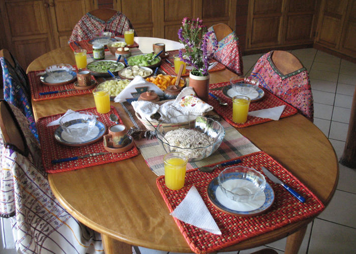 wholefood breakfast at the Andean Spirit Lodge