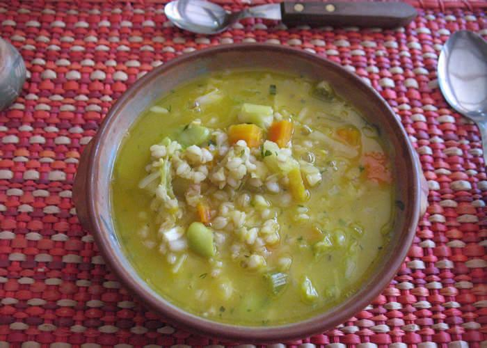 bartley & vegetable soup
